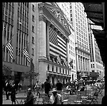 Wall Street, New York City.The view of Wall Street, Manhattan..The view from Wall Street in downtown New York City aka Manhattan. Some might say it is the financial capital of the world.