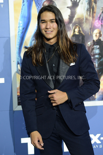 WWW.ACEPIXS.COM<br /> May 10, 2014 New York City<br /> <br /> Boo Boo Stewart attending the 'X-Men: Days Of Future Past' world premiere at Jacob Javits Center onMay 10, 2014 in New York City.<br /> <br /> Please byline: Kristin Callahan<br /> <br /> ACEPIXS.COM<br /> <br /> Tel: (212) 243 8787 or (646) 769 0430<br /> e-mail: info@acepixs.com<br /> web: http://www.acepixs.com