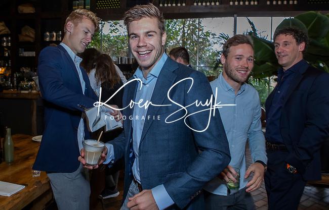 VOGELENZANG -  Sander de Wijn (Ned) met Roel Bovendeert  en Joep de Mol. Spelerslunch KNHB 2019.   Hockey internationals Nederlands dames en heren met sponsoren. COPYRIGHT KOEN SUYK