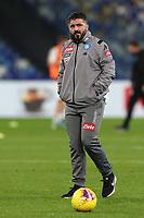 Gennaro Gattuso coach of Napoli during the warm up<br /> Napoli 14-12-2019 Stadio San Paolo <br /> Football Serie A 2019/2020 <br /> SSC Napoli - Parma Calcio 1913<br /> Photo Cesare Purini / Insidefoto