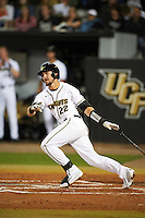UCF Knights first baseman Kyle Marsh (22) at bat during a game against the Siena Saints on February 17, 2017 at UCF Baseball Complex in Orlando, Florida.  UCF defeated Siena 17-6.  (Mike Janes/Four Seam Images)