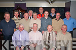 Willie O'Sullivan Pinewood Estate and John Mannix Flesk Lodge, Muckross Road, Killarney celebrated their retirement from St Columbanus Home, Killarney with their collegues in O'Riada's bar Killarney on Wednesday night Front row l-r: Donal Tucker, Willie O'Sullivan, John Mannix, Paddy O'Shea. Back row: Gerard Fitzgerald, Philip Coffey, Paul Horgan, Mike Doona, Dermot O'Mahony, Diarmuid O'Donoghue, Padraig Doherty, Derek Moynihan, Jimmy Fleming and James O'Connor .   Copyright Kerry's Eye 2008