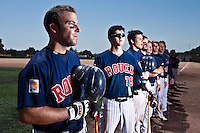 24 May 2009: Team Rouen is seen during the 2009 challenge de France, a tournament with the best French baseball teams - all eight elite league clubs - to determine a spot in the European Cup next year, at Montpellier, France. Rouen wins 7-5 over Savigny.