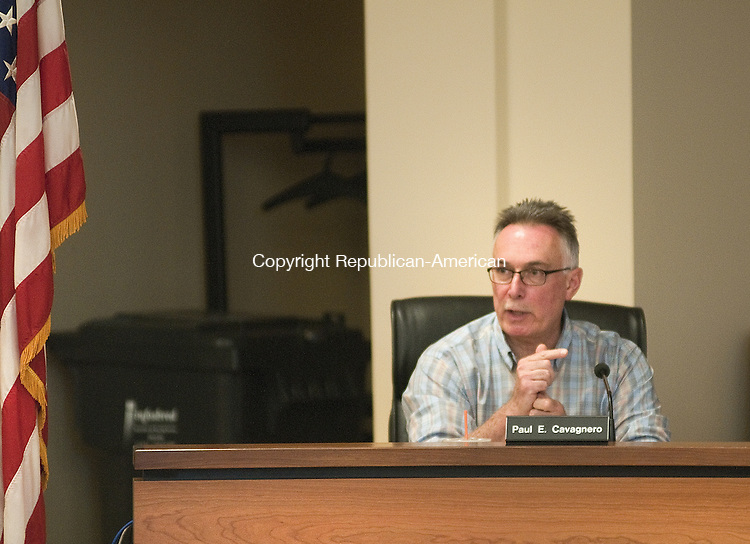 TORRINGTON, CT, 06  JULY 15 - Councilman Paul E. Cavagnero makes a point during a discussion on whether to audit the Board of Education finances during a Torrington City Council meeting Monday.  Alec Johnson/ Republican-American