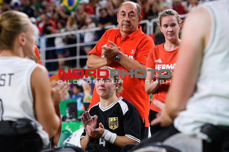 16.09.2016, Rio de Janeiro, Olympische Arena<br />Paralympische Spiele, Rollstuhl Basketball Frauen, Finale, Deutschland (GER) vs. USA<br /><br />Annika Zeyen (#8 GER) enttŠuscht / enttaeuscht / traurig nach Niederlage<br /><br />  Foto &copy; nordphoto / Kurth