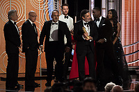 Accepting the Golden Globe for BEST TELEVISION SERIES - MUSICAL OR COMEDY for &quot;The Kominsky Method&quot; (Netflix) are Chuck Lorre and Al Higgins at the 76th Annual Golden Globe Awards at the Beverly Hilton in Beverly Hills, CA on Sunday, January 6, 2019.<br /> *Editorial Use Only*<br /> CAP/PLF/HFPA<br /> Image supplied by Capital Pictures