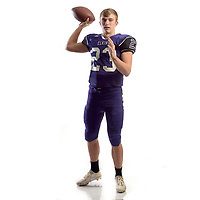 NWA Democrat-Gazette/ANDY SHUPE<br /> Quinn McClain of Elkins is the Northwest Arkansas Democrat-Gazette Small School School Newcomer of the Year. Wednesday, Dec. 13, 2017.