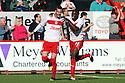 Marcus Haber of Stevenage celebrates with Lucas Akins. Stevenage v Bury - npower League 1 -  Lamex Stadium, Stevenage - 29th September, 2012. © Kevin Coleman 2012