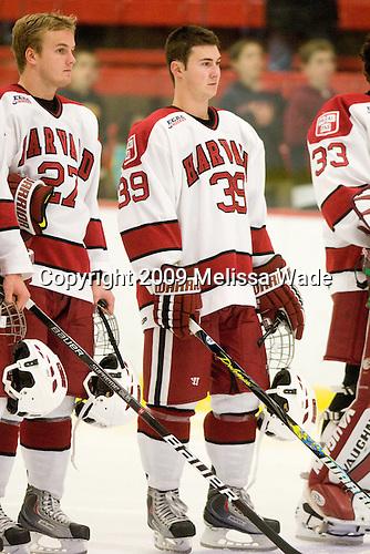 Michael Biega (Harvard - 27), Pier-Olivier Michaud (Harvard - 39) -  The Dartmouth College Big Green defeated the Harvard University Crimson 6-2 on Sunday, November 29, 2009, at Bright Hockey Center in Cambridge, Massachusetts.