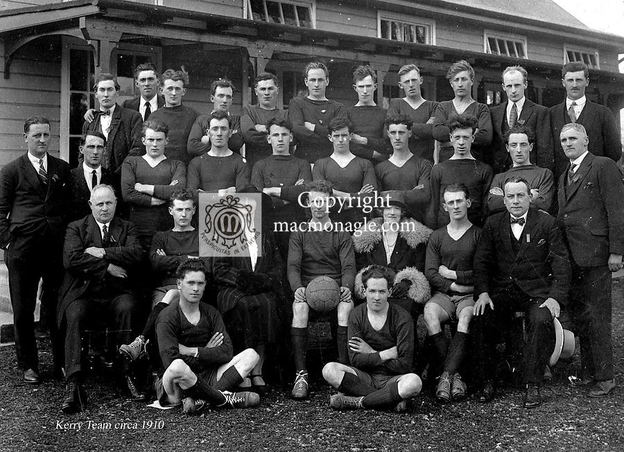 THE KERRY FOOTBALL TEAM circa 1910..Photo by Daniel MacMonagle..from the MacMonagle, Killarney photo archive.www.macmonagle.com