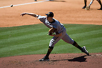 Missouri TIger starting pitcher Nick Tepesch against the TCU Horned Frogs on Friday March 5th, 2100 at the Astros College Classic in Houston's Minute Maid Park.  (Photo by Andrew Woolley / Four Seam Images)