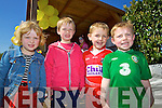 Ciara O'Connell, Tadghg O'Connell, Jack O'Riordan and Daniel Barrett at the Easter Egg hunt at Ballyseedy Home and Garden on Sunday,