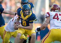 Zach Kline of California in action during NCAA football game against USC at Memorial Stadium in Berkeley, California on November 9th, 2013.   USC defeated California, 62-28.