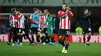 Bryan Mbeumo of Brentford applaud the home fans at the final whistle during Brentford vs Reading, Sky Bet EFL Championship Football at Griffin Park on 23rd November 2019
