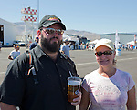 Aaron Dial and Rae Guse, from Anchorage, Alaska at the Air Races at the Reno-Stead Airfield on Sunday, Sept. 20, 2015.