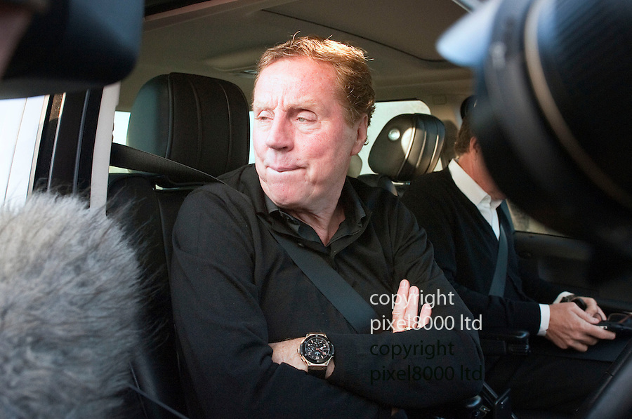 QPR  - Harry Redknapp to the rescue - .He arrives at the training ground in West London today with assisttant Kevin Bond in his trade mark Range Rover.....Pic by Gavin Rodgers/Pixel 8000 Ltd