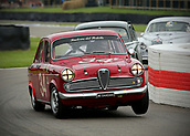 10th September 2017, Goodwood Estate, Chichester, England; Goodwood Revival Race Meeting; An Alfa Romeo Giulietta T1 driven by Steve Soper exits the Goodwood chicane