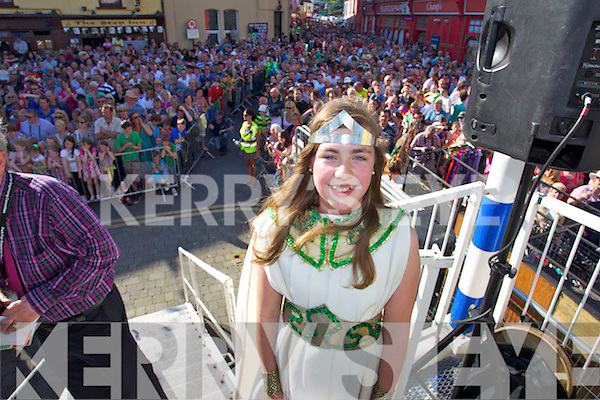 Queen of Puck Claire O'Sullivan pictured at the coronation at Puck Fair on Friday