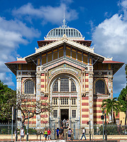 Fort-de-France, Martinique.  Victor Schoelcher Library Museum, Romanesque Architectural Style.