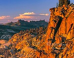 Sunset, Burst Rock, Emigrant Wilderness, Stanislaus National Forest, Sierra Nevada Mountains, California