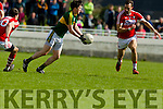 Paul Murphy Kerry in action against Kevin O Driscoll Cork in the National Football league in Austin Stack Park, Tralee on Sunday.