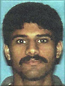 Washington, DC - September 26,  2001 -- Photo released by FBI of  Nawaf Alhazmi, one of the alleged hijackers of American Airlines Boeing 757 designated as Flight #77, from Washington Dulles to Los Angeles.  The flight departed Washington Dulles at 8:10 AM on Tuesday, September 11, 2001 and crashed into the Pentagon at 9:39 AM..Credit: FBI via CNP