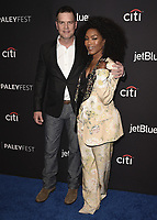 "HOLLYWOOD, CA - MARCH 17:  Peter Krause and Angela Bassett at the PaleyFest 2019 - Fox's ""9-1-1"" red carpet at the Dolby Theatre on March 17, 2019 in Hollywood, California. (Photo by Scott Kirkland/Fox/PictureGroup)"