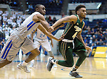 January 20, 2016 - Colorado Springs, Colorado, U.S. -  Colorado State guard, John Gillon #4, breaks free for an inbounds pass against Air Force guard, Pervis Louder #22, during an NCAA basketball game between the Colorado State University Rams and the Air Force Academy Falcons at Clune Arena, United States Air Force Academy, Colorado Springs, Colorado.  Colorado State defeats Air Force 83-79.