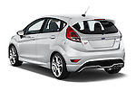 Car pictures of rear three quarter view of a 2015 Ford Fiesta St MT 2Wd 5 Door Hatchback 2WD Angular Rear