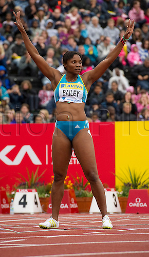 14th Aug 2010, Crystal Palace, Crystal Palace, Samsung Diamond League, Diamond League Athletics, Aleen Bailey of JAM finished 7th in the 100m