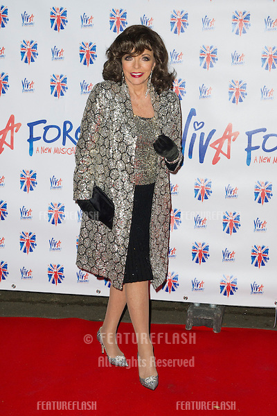Joan Collins at the Viva Forever Press Night, London. 11/12/2012 Picture by: Simon Burchell / Featureflash
