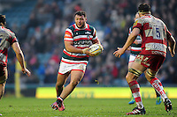 Ellis Genge of Leicester Tigers in possession. Aviva Premiership match, between Leicester Tigers and Gloucester Rugby on February 11, 2017 at Welford Road in Leicester, England. Photo by: Patrick Khachfe / JMP