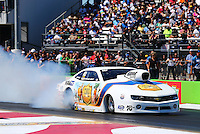 Sept. 21, 2013; Ennis, TX, USA: NHRA pro stock driver Steve Kent during the Fall Nationals at the Texas Motorplex. Mandatory Credit: Mark J. Rebilas-