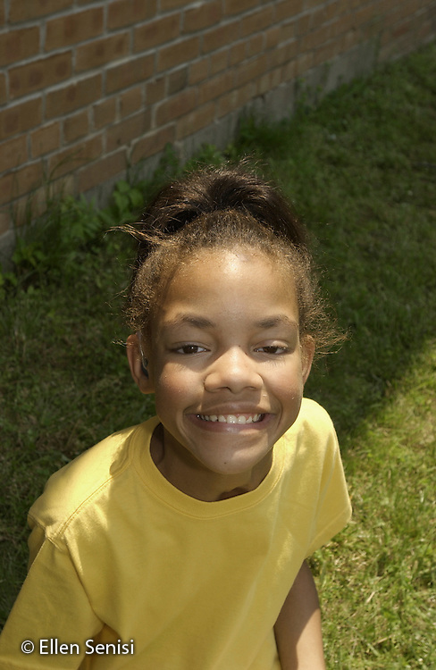 MR / Guilderland, NY / Westmere Elementary Schl.Albany Co. BOCES Deaf & Hard of Hearing Class.Girl: 12, African-American, Fetal Alcohol Syndrome, Hard of Hearing; uses hearing aid; learning American Sign Language.well-cared for in adoptive family situation