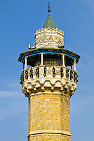 Tunis, Tunisia.  Minaret of the Youssef Dey Mosque, first Octagonal Minaret in Tunis ((1616).