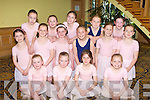 BALLET: Member's of the Kerry School of Music Ballet Group enjoying the Kerry School of Music & Performing Arts Fifth Annual Performance Assessment & Student of the Year at the Brandon hotel on Sunday pictured Sadhbh Kilgallon, Angela Marie Dineen, Katie Crowe, Me?abh O'Sullivan, Hannah Sharkey, Rebecca Hayes, Shauna Flynn, Evelyn Hayes, Sive Lenihan-Bolt, Ciara Darcy, Ciara Lynch, Orlaith O'Sullivan, Isabelle Bentley, Erin Moss and Alannah Collins.