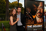 Robert Downey Jr and wife Susan at the Los Angeles Premiere of 'The Soloist' at Paramount Studios in Los Angeles, California on April 20, 2009. .Photo by Nina Prommer/Milestone Photo