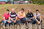 Kevin Courtney, Peter Giles, Robert Giles, John Keeffe, and James Courtney Ballyhar enjoying the ploughing at the South Kerry Ploughing Championships in Fossa on Sunday