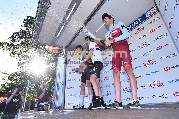 Picture by SWpix.com 28/06/2018 - HSBC UK Men's National Time Trial Championships - Kirkley Hall, Northumberland, England - Harry Tanfield of Canyon Eisberg, Geraint Thomas of Team Sky and Alex Dowsett of Team Katusha-Alpecin