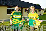 Divided loyalty's in the Brosnan family as Kerry play Donegal in the all Ireland Final. Pictured Terry Brosnan, (kerry) and Frances Brosnan (Donegal)
