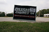 Pinecrest, Florida.USA.October 28, 2004..Bush - Cheney sign with nazi swastika.