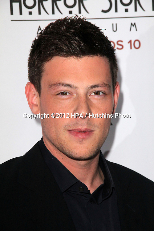 "LOS ANGELES - OCT 13:  Cory Monteith arrives at the ""American Horror Story: Asylum"" Premiere Screening at Paramount Theater on October 13, 2012 in Los Angeles, CA"