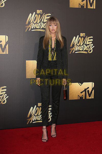 Burbank, CA - April 09 Gigi Hadid Attending 25th Annual MTV Movie Awards at Warner Brothers Studios On April 09, 2016. <br /> CAP/ADM/FS<br /> &copy;FS/ADM/Capital Pictures