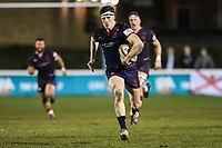 Ross Neal of London Scottish breaks free to score his team's first try of the game during the Greene King IPA Championship match between London Scottish Football Club and Jersey Reds at Richmond Athletic Ground, Richmond, United Kingdom on 16 March 2018. Photo by David Horn.