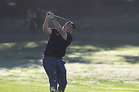 Phil Mickelson (USA) chips onto the 1st green during Thursday's Round 1 of the 2018 AT&amp;T Pebble Beach Pro-Am, held over 3 courses Pebble Beach, Spyglass Hill and Monterey, California, USA. 8th February 2018.<br /> Picture: Eoin Clarke | Golffile<br /> <br /> <br /> All photos usage must carry mandatory copyright credit (&copy; Golffile | Eoin Clarke)