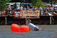Travis Thompson, (#2) begins to sink if turn 2, stoping the race for the final time. (SST-45 class)