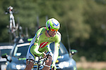 SITTARD, NETHERLANDS - AUGUST 16: Brian Vandborg of Denmark riding for Cannondale Pro Cycling competes during stage 5 of the Eneco Tour 2013, a 13km individual time trial from Sittard to Geleen, on August 16, 2013 in Sittard, Netherlands. (Photo by Dirk Markgraf/www.265-images.com)