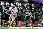 Placentia, CA 05/14/10 - Tanner Sandera (MC # 26) defends  Foothill's Matt Browne (Foothill # 17) as he tries to move upfield during the Mira Costa vs Foothill boys lacrosse game for the 2010 Los Angeles / Orange County CIF Championship.    ©2010 Dirk Dewachter  www.dewachter.net