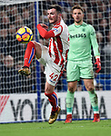 Tom Edwards of Stoke City during the premier league match at Stamford Bridge Stadium, London. Picture date 30th December 2017. Picture credit should read: Robin Parker/Sportimage