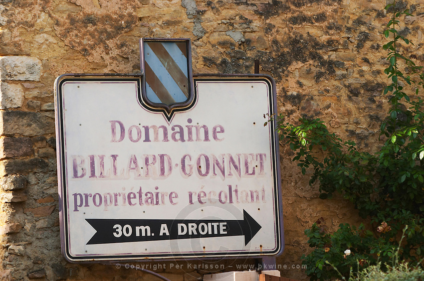 Domaine Billard Gonnet. The village. Pommard, Cote de Beaune, d'Or, Burgundy, France